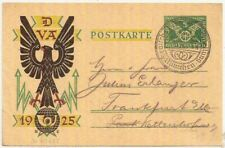 1925 GERMANY BERLIN DVA postal stationery PC w/special postmark commercial use