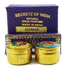 Natural Jasmine Fragrance Solid Perfume Body Musk Natural In Mini Brass Jar 4 gm