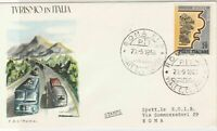 Italy 1966 Tourism in italy Cars on Road Roma Cancel FDC Stamps Cover ref 22399