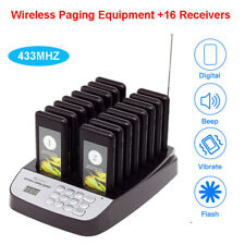 Digital Queuing Customer Paging System 16Pcs Coaster Pagers For Restaurant Table