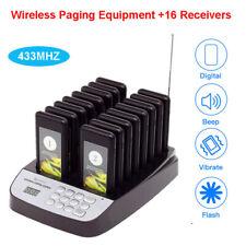 Digital Queuing Kunde Paging-System 16Pcs Achterbahn Pagers Für Restaurant Tisch