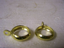"""3/4"""" Curtain Rod Rings with Eyelet Brass Vintage Gould 950E Made in USA Qty. 36"""