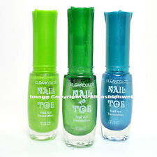 KLEANCOLOR 3 NAIL TO TOE ART THIN BRUSH LIME GREEN BLUE POLISH LACQUER 3ARTSET03