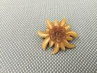 Ancienne broche en forme d'edelweiss art pop french antique jewel