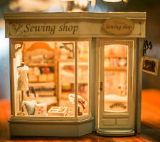 DIY Handcraft Miniature Dolls House The 19th Century Savile Row Sewing Shop