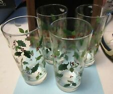 Set of 4 Holiday Glasses