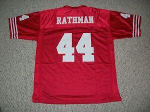 TOM RATHMAN Unsigned Custom San Francisco Red Sewn Football Jersey Sizes S-3XL