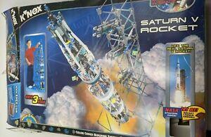 Vtg K'NEX Saturn V Rocket Kit 2001 w/ Instructions #15122 3+ Feet NASA 934pc