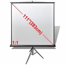 vidaXL Projectiescherm Wit met in Hoogte Verstelbaar Statief 200x200 cm (1:1)