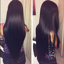 3 Bundles Unprocessed Virgin Brazilian Straight Hair Extensions Human Weave Hair