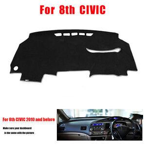 For Honda Civic 2006-2010 Dashmat Dashboard Mat Dash Board Right Hand Cover Mat