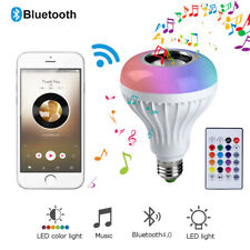 RGB E27 Bluetooth Lautsprecher Musik+Lampe 12W LED Birne 12 Farben Fernbedienung