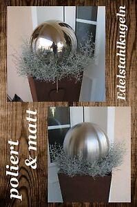 Edelstahlkugel Gartenkugel Rosenkugel Edelstahl poliert & matt 4 - 100 cm NEU #