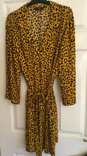 F&F Size 20. Animal Print Dress. Long Sleeved, Button Thru. Belted