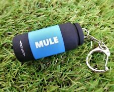 MULE Blue USB Rechargeable water resistant inspection torch key-ring EDC