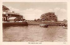 Aden Yemen Boat Landing Harbor Scene Real Photo Antique Postcard (J34627)