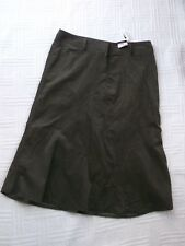 BNWT    George      size 16      OLIVE GREEN  NEEDLECORD PANELLED  SKIRT