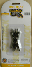 Bachmann N Scale E-Z Track 30 Degree Crossing Section #44840 Ships FREE in US
