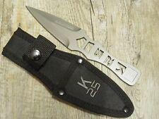 KNIFE COLTELLO 19,5 CM per bersaglio  CON CUSTODIA acciaio RUI TACTICAL K25