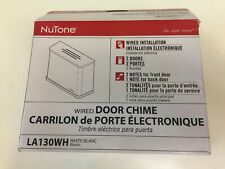 NuTone Wited Door Chime La130Wh. White New Nutone