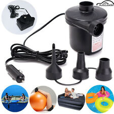 240V/12V Portable Electric Quick-Fill Air Pump Inflatable Deflating Air Mattress