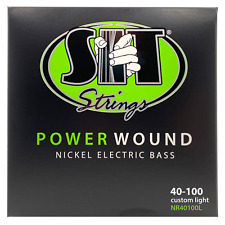 S.I.T Power Wound Nickel Bass Strings; gauges 40-100