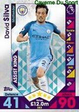 383 David SILVA ESPANA MANCHESTER CITY.FC SKILL CARDS PREMIER LEAGUE 2017 TOPPS