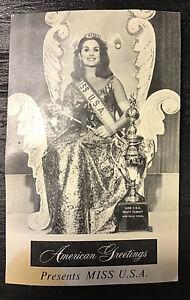 Miss USA autographed postcard American Greetings 1966