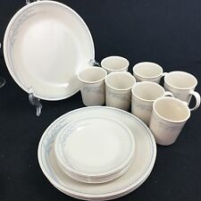 CORELLE CORNING BLUE LILY 23 pc Dinnerware set Plates Cups/Mugs