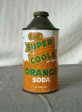 NICE C&C Super Coola Orange Cone Top Soda Can