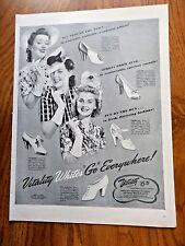 1942 Vitality Shoes Ad  Whites GO Everywhere