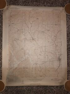 Vintage Cobden ILL Map Original 1948 USGS Topographical Army Large Illinois