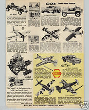 1970 PAPER AD COX Thimble Drome Road Racer Dune Buggy Indy Testor 1957 57 Chevy