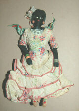 Nice Vintage Cloth Ethnic Black Doll with Original Clothing Dress