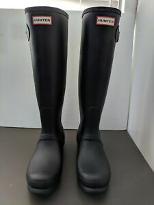 Hunter Women's Original Tall Black Rubber Rain Boots Size 7