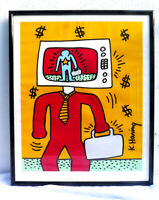 Keith Haring TV Man - Silkscreen - Pencil Numbered - Rare - (*Reduced/Offers*)
