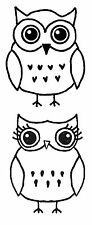 Mr & Mrs Owl Lg Unmounted Rubber stamps - SA-7148