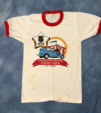 Vtg Annual Rod Run Southern Maryland Shirt Hot Rods Classic Cars Graphic Tee 80s