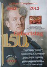 BRD Numisblatt 5/2012, 10 euro, 150 COMPLEANNO Holzinger capitano