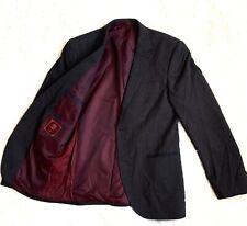 "Next Mens Blazer Jacket Grey Tailored Fit Wool Blend Chest 38""R"