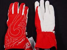 New Reusch Woven Stormbloxx Ski Gloves Womens Small (7) Julka #2931116 Red