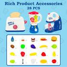 28 PCS Kitchen Appliances Toy Blender Play Kitchen Accessories Set for Children