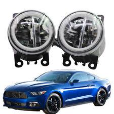 LED Fog Light + Angel Eye Rings Daytime Running Lights DRL Fit For Ford Mustang