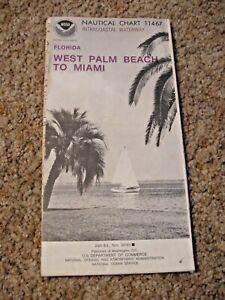 NAVIGATIONAL CHART / MAP # 11467 - WEST PALM BEACH TO MIAMI - FLORIDA