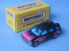 Matchbox Vauxhall Opel Frontera Rodeo Black and Pink Toy Model Car Boxed 75mm