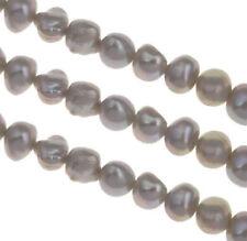 SÜSSWASSERPERLEN ZUCHTPERLEN REISKORN 8mm Grau Natur Barock Perle D492