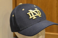 NOTRE DAME Fighting Irish Blue HAT Zephyr Cap NCAA Embroidered 3D Gold Logo