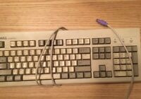 Vintage Dell Quietkey PS/2 Keyboard Tested Working