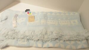 VINTAGE CARRIAGE BOUTIQUES BABY BLANKET BRAND NEW WITH TAGS SEDYLAN TRAIN BORDER