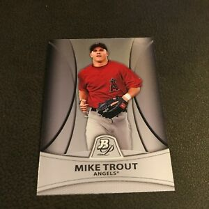 Mike Trout 2010 Bowman Rookie Platinum Prospects #PP5 RC Very Good